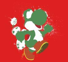 Green Yoshi Splatter Design Kids Tee