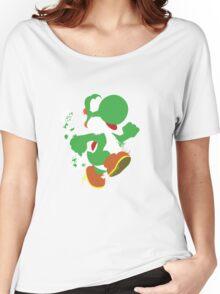 Green Yoshi Splatter Design Women's Relaxed Fit T-Shirt