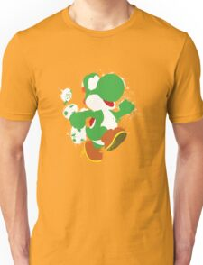 Green Yoshi Splatter Design Unisex T-Shirt