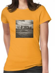 Stonehenge and Storm Clouds Womens Fitted T-Shirt