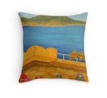 Veduta di Vesuvio Throw Pillow