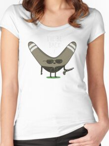 I'll be Back Women's Fitted Scoop T-Shirt