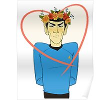 First Officer Spock Valentine Poster