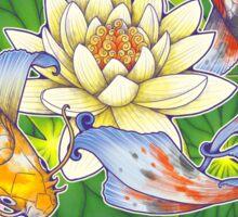 Lotus Koi Pond - Simple Sticker