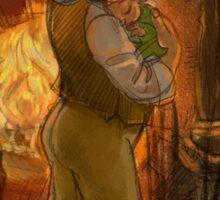 Bilbo and Baby Frodo Baggins Sticker