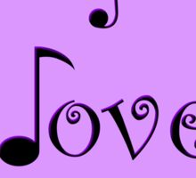 I Love Music - Pop Purple Sticker