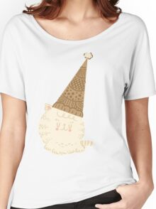 Holiday Ice Cream Cat Women's Relaxed Fit T-Shirt