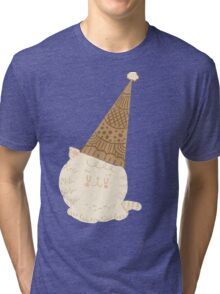 Holiday Ice Cream Cat Tri-blend T-Shirt