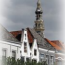 View of Tower City Hall Zierikzee by hanslittel