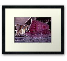 Giant Golden Buddha Framed Print