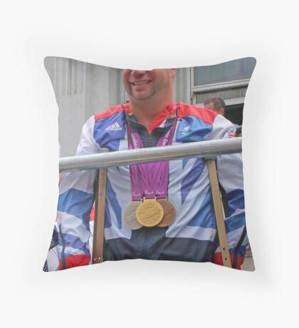 Lee Pearson - Multi Medal Winner Throw Pillow