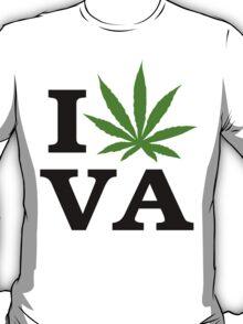 I Love Virginia Marijuana Cannabis Weed T-Shirt T-Shirt