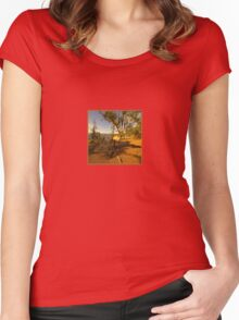 """Last Light of the Day"" Women's Fitted Scoop T-Shirt"