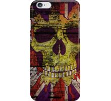 Union Jack Patriotic Skull On Gunge Wall Flag iPhone 5 Case / iPhone 4 Case  / Samsung Galaxy Cases  iPhone Case/Skin