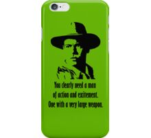 A very large weapon (black) iPhone Case/Skin