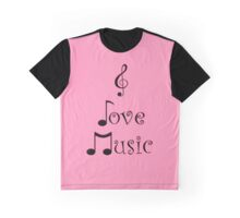 I Love Music - Punk Pink Graphic T-Shirt