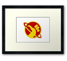 The Galactic Hitchhhiker Framed Print