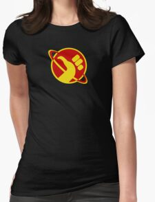 The Galactic Hitchhhiker Womens Fitted T-Shirt