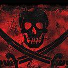 Skull with Crossed Swords Creepy Artwork by NaturePrints