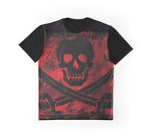 Skull with Crossed Swords Creepy Artwork Graphic T-Shirt