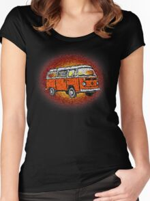 Camper Van Go Sunset Women's Fitted Scoop T-Shirt