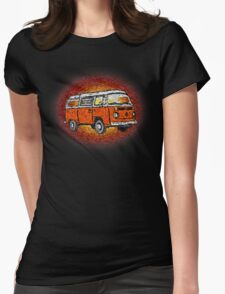 Camper Van Go Sunset Womens Fitted T-Shirt