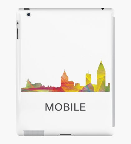 Mobile, Alabama Skyline WB1 iPad Case/Skin