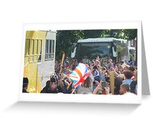 The Olympic Torch in High Street Kenilworth. Greeting Card