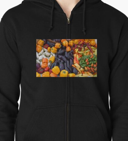 Cornucopia-Farmers market in Santa Barbara Zipped Hoodie