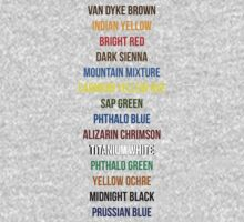 Bob Ross Paint Colors by BearWithAKnife-