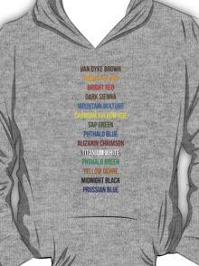 Bob Ross Paint Colors T-Shirt