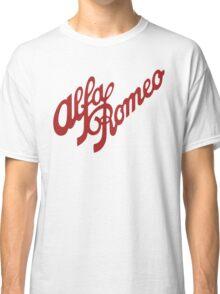Alfa Romeo Script in RED Classic T-Shirt