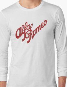 Alfa Romeo Script in RED Long Sleeve T-Shirt
