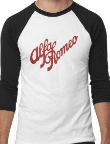 Alfa Romeo Script in RED Men's Baseball ¾ T-Shirt