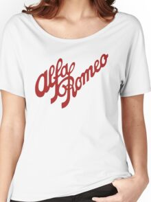 Alfa Romeo Script in RED Women's Relaxed Fit T-Shirt