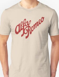 Alfa Romeo Script in RED Unisex T-Shirt