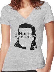 Eugene (WalkingDead) Women's Fitted V-Neck T-Shirt