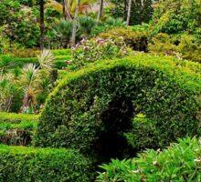 The Maze in the Na 'Aina Kai Botanical Gardens Sticker
