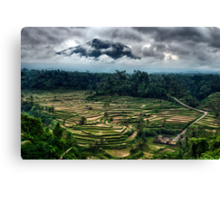 In the Shadow of Volcano Agung Canvas Print