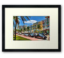 South Beach Art Deco Style Framed Print