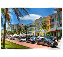 South Beach Art Deco Style Poster
