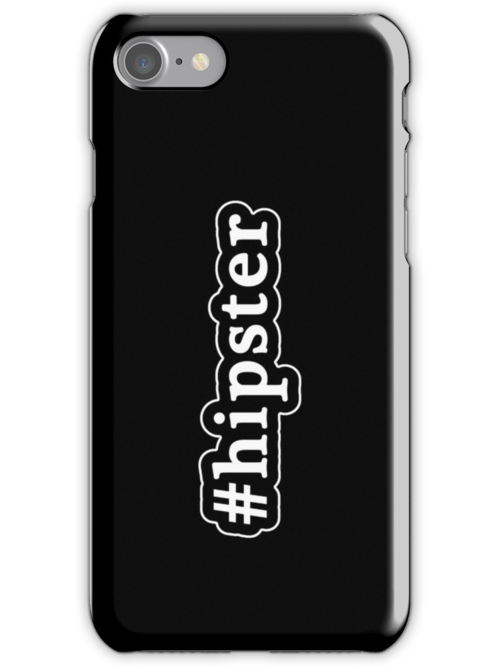 Hipster - Hashtag - Black & White by graphix