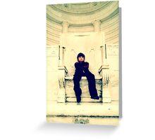Half Empty Throne Greeting Card