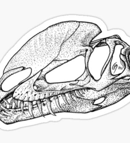 Dilophosaur on my Chest! 1 Sticker