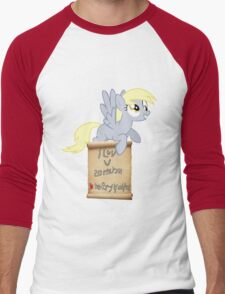 Derpy Hooves Loves You - Version 4 Men's Baseball ¾ T-Shirt