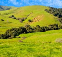 Green Meadow, Santa Ynez valley, CA Sticker
