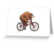 Bear on a Bike Greeting Card