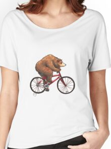 Bear on a Bike Women's Relaxed Fit T-Shirt