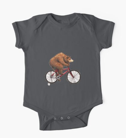 Bear on a Bike One Piece - Short Sleeve