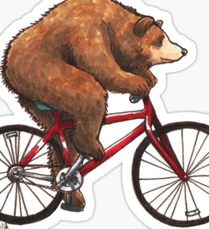 Bear on a Bike Sticker